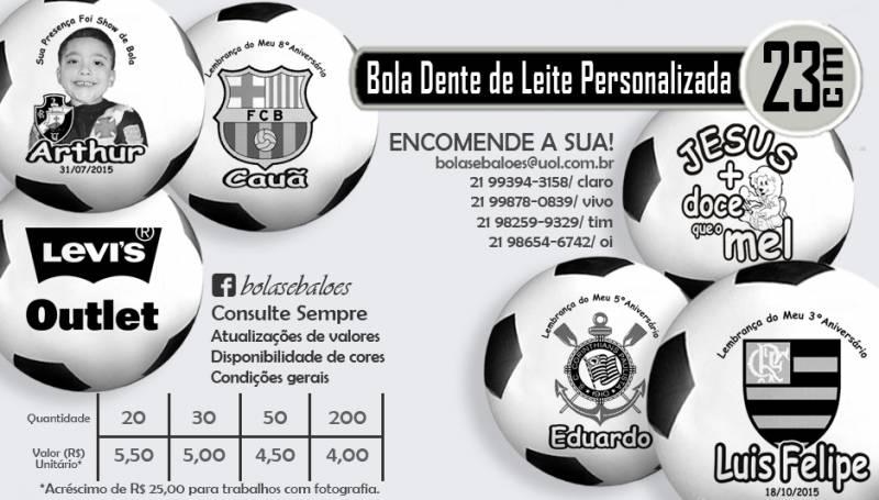 Bola Dente de Leite Personalizada com Tema Foto ou Logomarca - Guis ... 5a7fe7c57ad88